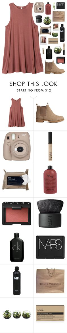 """""""tuscan sun // my dream wardrobe pt.38"""" by undercover-martyn ❤ liked on Polyvore featuring RVCA, H&M, Fujifilm, NARS Cosmetics, Korres, Calvin Klein, Louis Vuitton, Polaroid, Aesop and Laundry"""