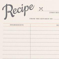 Free Printable Vintage Recipe Cards | Love vs. Design
