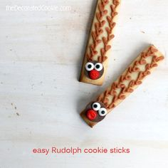 Rudolph Cookie Sticks | The Decorated Cookie