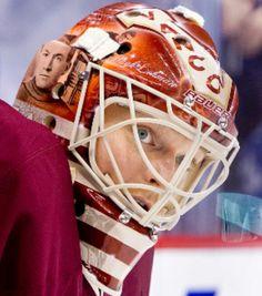 Cory Schneider, 2013 Vancouver Canucks mask.