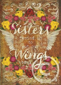 SISTERS REMIND US by melody ross - Purchase this print from shop.bravegirlsclub.com starting at $15.00