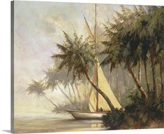 Framed Artwork, Framed Prints, Poster Prints, Wall Art, British Colonial Decor, Tropical Art, Tropical Beaches, Canvas Art Prints, Big Canvas