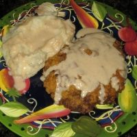 Pork Cube Steaks In Sour Cream Gravy ... Decent, but probably not good enough to make again. Used up some meat I was needing to get rid of though! :)