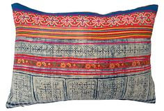 Pillow w/ Intricate   Batik Textile on OneKingsLane.com
