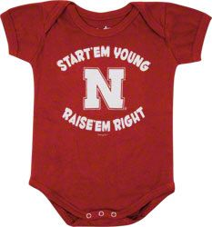 And of course he/she has to be decked out in Husker gear!! He/She will be arriving right in time for football season!!
