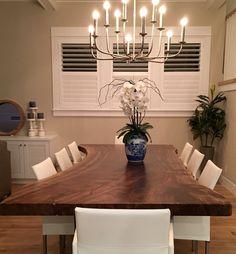 Live Edge Dining Table Black Walnut Walnut Table by PlankToTable
