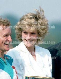 June 28 1986 Birthright Polo Match at Guards Polo Club in Windsor. Diana is not wearing earrings