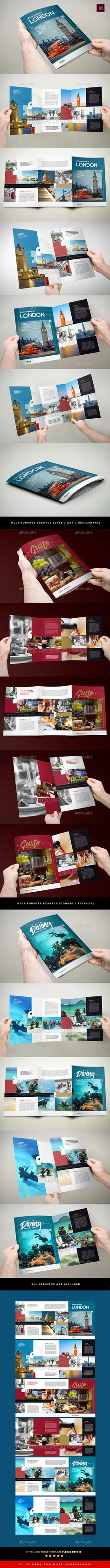 3xA4 Trifold Multipurpose Brochure Template InDesign INDD