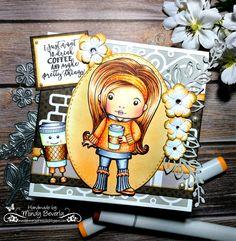 Cute Coffee LaLa Land Card