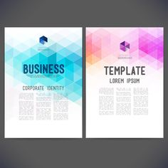 Geometric shapes business cover templates graphics 03
