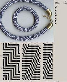 Hapishane işi boncuk diziliş şemaları – Crochet bead ropes schemes