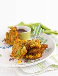Annabel Karmel's carrot and sweetcorn fritters - These are a toddler recipe but they are honestly the tastiest things I've had. Give them a whirl!