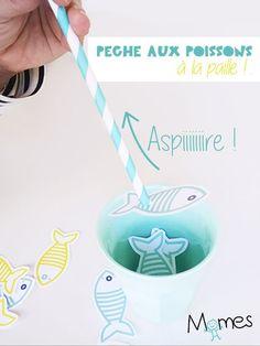 Une pêche aux poissons qui se joue à la paille ? Mais c'est un poisson d'avril ou quoi ? Oui ! Mais c'est aussi une activité rigolote pour les enfants ! Un petit jeu de dextérité et de rapidité pour les plus petits qui se joue seul ou à plusieurs.