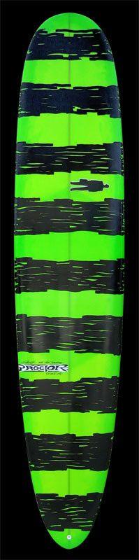 Performance Longboard | Green w/ Black Organic stripes