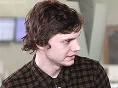 Welcome to Evan Peters Gifs — Evan Peters saying that his mom Julie can not...