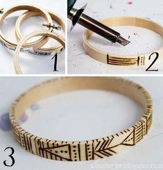 4ae4bb5803be3 handmade wooden bangles from alisa burke Pintura En Madera