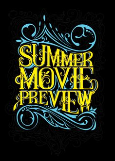 SUMMER MOVIE PREVIEW for EW by NACH OH , via Behance   Would be great for circus #oum_fhc