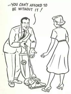 We love this cute vacuum cartoon on the front of the Model