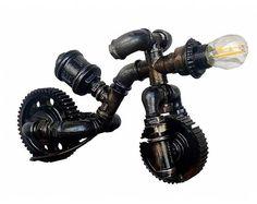 Designer table lamps, Industrial standing lamps, Vintage style edison, Light edison, Retro industrial lighting, Industrial pipe lamp