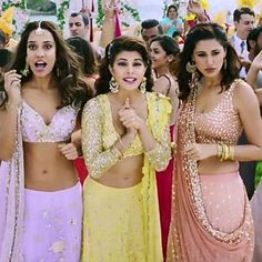 When your squad has the same taste as you! #squadgoals #everybodylovesasthanarang ❤️❤️❤️❤️❤️ #lisahaydon #nargisfakhri #jacquelinefernandez #housefull3 #akshaykumar #lehenga #love #indian #pakistani #lilac #lavender #yellow #nudepink #indianfashion #pakistanifashion #jewelry #ootd #styleinspo #fashioninspo #nyc #bangkok #dubai #london #nyc #ca #karachi #mumbai #delhi #gujarat