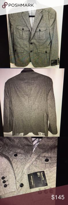 Banana republic gray tweed tailored blazer men 38 Banana republic gray tweed tailored fit blazer men's  38 S brand new with tags excellent condition Banana Republic Suits & Blazers Sport Coats & Blazers