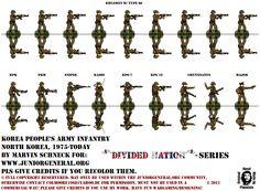 North Korean Infantry | Paper Miniature