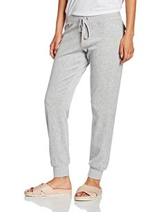 Juicy Couture Women's J Bling Velour Zuma Sports Trousers, Grey (Silver Lining)…
