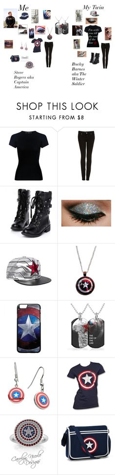 """Me And My Twin"" by theavengers353 ❤ liked on Polyvore featuring Samsung, TIBI, Topshop, Converse, Marvel Comics and Marvel"