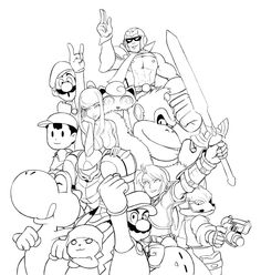 Super Smash Bros Coloring Pages Print