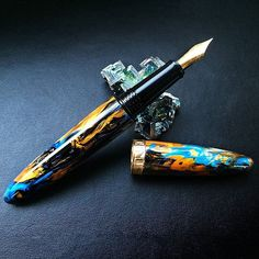 Every pen from the Benu's Sublime collection has its own surface motif and color blend. Prepared separately for every single pen, precious resin material ensures that every writing instrument has its own look that can never be repeated. #pen #pens #designerpen #penshop #fashionpen #penstore #luxurypen #coolpen #luxurypens #handmadepen #handmadepens #benupen #writingpen #penlover #writinginstruments