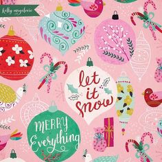 Merry Everything Everyone! @kellyangelovic #christmas #kellyangelovic #surfacepattern #jennifernelsonartists