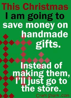 Craft Snark: Save Money on Handmade this Christmas