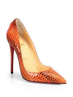 Christian Louboutin snakeskin pump http://rstyle.me/n/ps3ernyg6