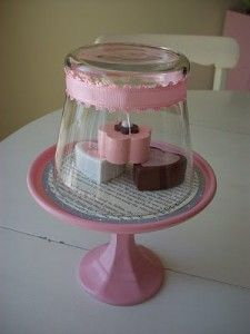 DIY :: Cupcake Stands or you could put flowers or whatever for table decor at a party. Even a baby shower decoration.