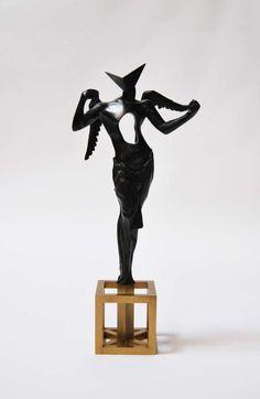 """Surrealist Angel,"" 1983 | Salvador Dali | Bronze, brass base | Edition 435 of 1500."