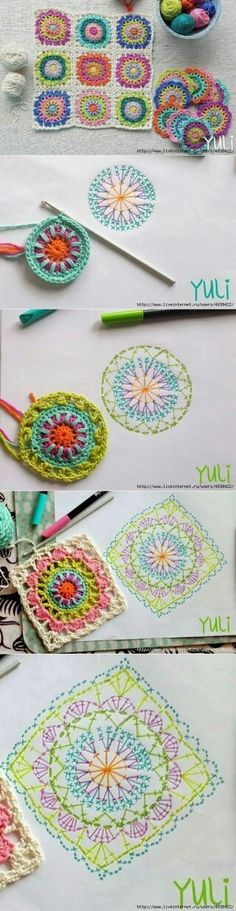 Starburst granny square is a beautiful project and a lot of people would love to know how to crochet one. Débardeurs Au Crochet, Crochet Pillow, Crochet Diagram, Crochet Chart, Love Crochet, Crochet Granny, Crochet Doilies, Crochet Flowers, Crochet Stitches