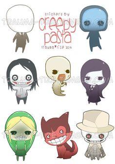 Creepypasta Chibi, Creepypasta Proxy, Creepypasta Characters, Laughing Jack, Creepy Pasta Family, Creepy Stories, Jeff The Killer, Creepy Cute, Harry Potter