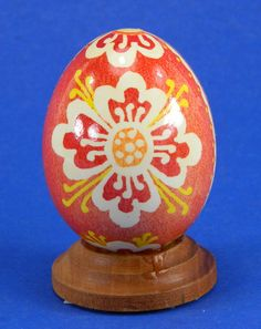 Polish Pysanky Egg Hand Painted Decorated Vintage Easter Blown Out Chicken Egg 20483 by JacksonsMarket on Etsy