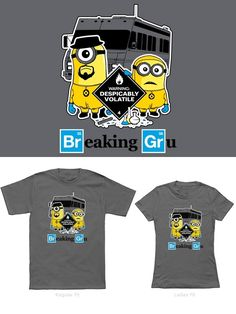 Camisetas Minions: Breaking Gru.