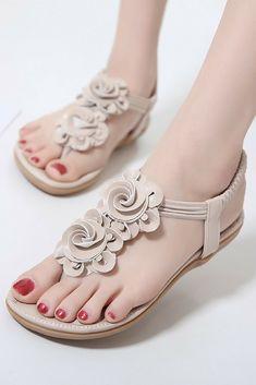 New Women Summer Casual Bohemia Flat Sandals Shoes e81efe04041a