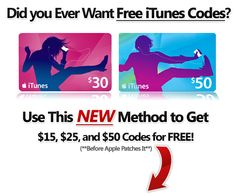 how would you like to get Free Itune codes