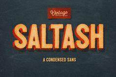 Saltash - A Condensed Sans by Vintage Design Co. on Creative Market
