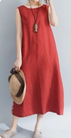 Women loose fit over plus size pocket dress maxi tunic Bohemian Boho casual chic Women's Dresses, Trendy Dresses, Casual Dresses, Summer Dresses, Linen Dresses, Casual Clothes, Bride Dresses, Ebay Dresses, Stylish Clothes