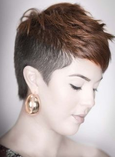 Short Hairstyles, Short Haircuts Shaved Side: Short Shaved Hairstyles for Women