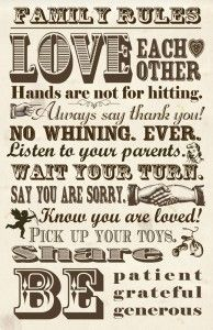 Family Rules {Free Printable}