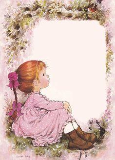My Imagination is to make it Real. Sarah Key, Holly Hobbie, Sara Key Imagenes, Decoupage Paper, Writing Paper, Cute Illustration, Vintage Cards, Cute Drawings, Cute Art
