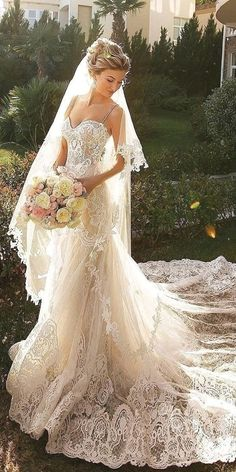 24 Romantic Bridal Gowns Perfect For Any Love Story ❤️ lace sheath romantic . - 24 Romantic Bridal Gowns Perfect For Any Love Story ❤️ lace sheath romantic … – Source by jokepicsite - Wedding Dress Black, Elegant Wedding Dress, Dream Wedding Dresses, Trendy Wedding, Romantic Wedding Gowns, Lace Bridal Gowns, Wedding Sundress, Sparkle Wedding Dresses, Ivory Wedding Dresses