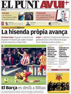 Los Titulares y Portadas de Noticias Destacadas Españolas del 2 de Diciembre de 2013 del Diario El Punt Avui ¿Que le pareció esta Portada de este Diario Español?