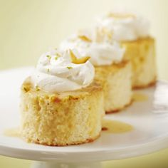 Coconut-Lime Tres Leches Cake  Ingredients for 12 servings:  1 box (18.25 ounces) white cake mix 3 limes 1 can (13.5 fluid ounces) light coconut milk 1 can (14 ounces) NESTLÉ LA LECHERA FAT FREE Sweetened Condensed Milk or NESTLÉ CARNATION Sweetened Condensed Milk 2/3 cup (5 fluid-ounce can) NESTLÉ® CARNATION® Evaporated Fat Free Milk 1/3 cup light rum (or to taste) 2 cups light whipped topping, thawed, or 2 cups sweetened whipped cream 1/2 cup shredded or flaked coconut, lightly toasted…