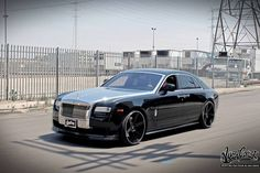 Custom Rolls Royce Ghost wrapped by West Coast Customs in Avery Dennison Conform Chrome Silver